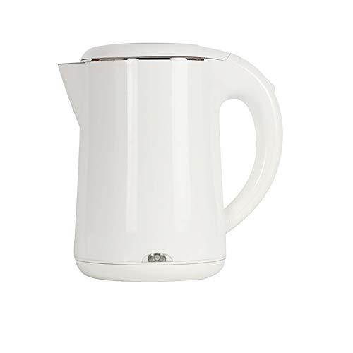 NBMNN Wasserkocher Edelstahl, Elektrischer Wasserkessel 1,2 Liter 1000-1500W Wasserkocher Schnurlos Tragbar Auto-Off & Trockenlaufschutz BPA-Frei Warmhaltefunktion Energiesparend White,One Size