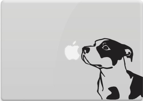Pitbull Vinyl Decal Sticker Skin for Apple MacBook Pro Air Mac Air, Die cut vinyl decal for windows, cars, trucks, tool boxes, laptops, MacBook - virtually any hard, smooth surface