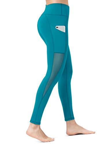 ALONG FIT Yoga-Hose für Frauen mit Taschen, Kompressions-Workout-Leggings, Bauchkontrolle - - Groß