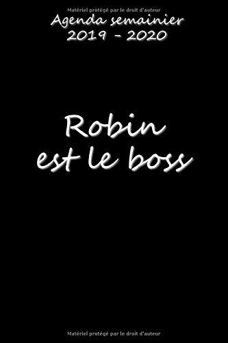 Agenda semainier 2019 - 2020 Robin est le boss