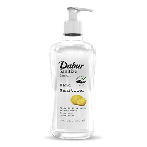Dabur Sanitize Hand Sanitizer| Alcohol Based Sanitizer (Lemon) - 500 ml