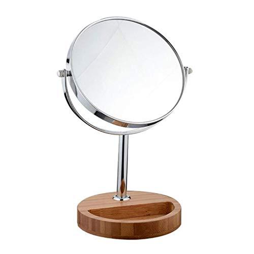 Miroir Maquillage, Miroir d'éclairage double face de 7 pouces, miroir grossissant 3X, miroir de toilette portatif