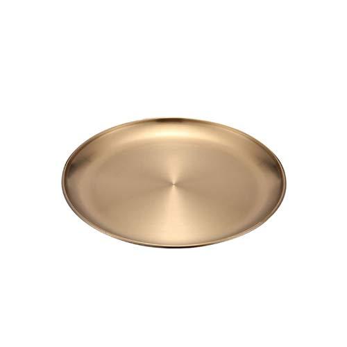 Platos llanos Platos de cena europea Gold Placa de gasada de placa de plato Ronda Sirviendo platos platos Placa Tray Tray Western Steak Bandeja Placas de cocina Platos para servir de porcelana de coci