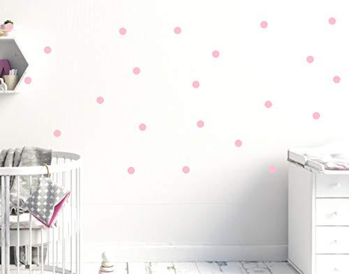 timalo® Wandtattoo 128 Stück pastellfarbene Punkte Kinderzimmer Mädchen rosa Kreise Aufkleber Pastell