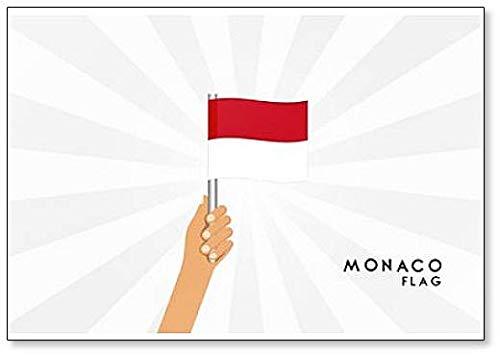 Aimant de réfrigérateur classique représentant les mains humaines tenant le drapeau de Monaco