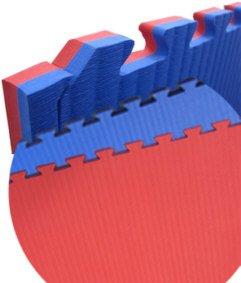 Wendematte Professional, rot/blau, 1 x 1 Meter, ca. 2 cm dick, Puzzlematte/Steckmatte/Bodenmatte/Sportmatte/Spielteppich/Unterlegmatte/Kampfsportmatte/Turnmatte