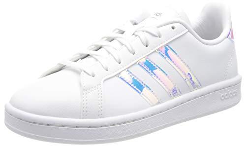 adidas Grand Court, Scarpe da Tennis Donna, Ftwr White/Silver Met./Silver Met, 40 2/3 EU