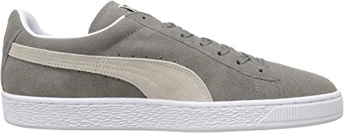 PUMA Suede Classic Sneaker,Steeple Gray/White,12 M US Men's