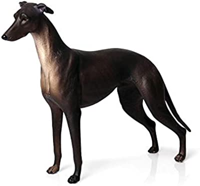 Hibon Dog Figurine Simulated Dog Realistic Plastic Animals for Collection Science Educational Prop (Black Greyhound)