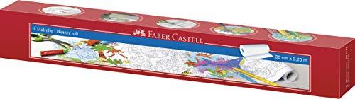 Faber-Castell 201397 - Rollo adhesivo para colorear con motivo jungla y mundo acuático, apto para lápices de colores, rotuladores, ceras y acuarelas