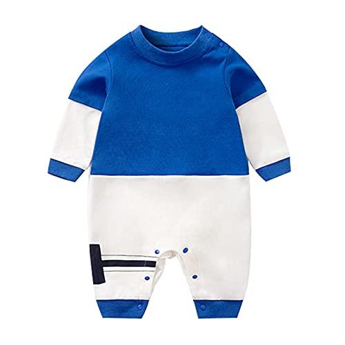 NewbornBaby - Mono de manga larga para niños y niñas, diseño de anime, color azul, Azul / Patchwork, 12-24 meses
