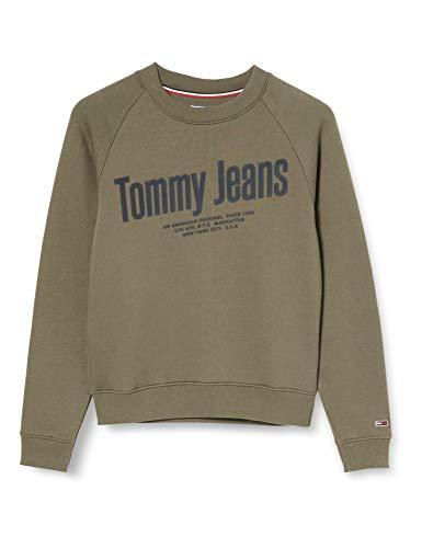 Tommy Hilfiger Tjw Chest Logo Sweatshirt Sudadera, Verde (Olive Tree Msq), 36 (Talla del Fabricante: Small) para Mujer