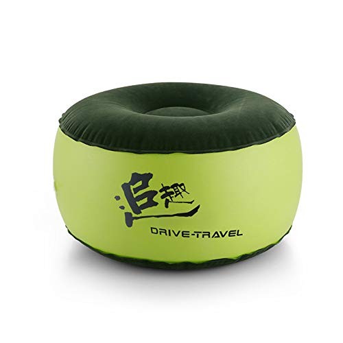 Meiju Cute & Funny Inflatable Stool Sofa Home Decoration Portable Chair Air Filled Comfort Seat Great as a Footstool & Wear Shoes Stool Footstool + Free Inflatable Pump (55cmx30cm,Green)