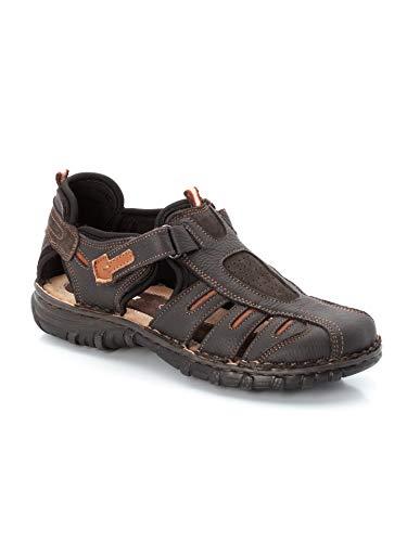 Walbusch Herren Klepper Trekking Sandalenschuh einfarbig Braun 44
