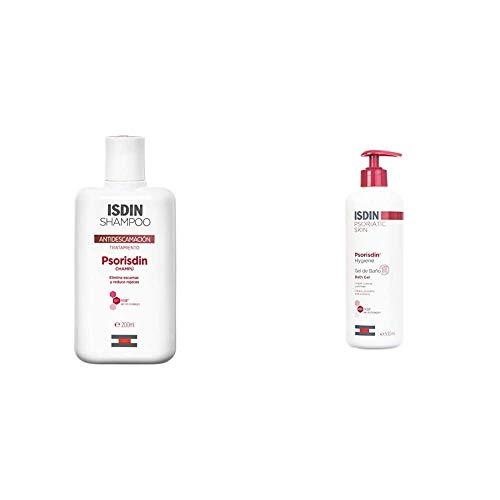 ISDIN PACK Psorisdin: Champú 200ml + Hygiene Gel de Baño, Limpia, Suaviza y Protege la Piel de Personas con Psoriasis, 500ml