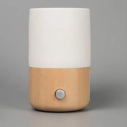 Aroma Diffuser Wasserlosen Nebulizing Ätherisches Öl Diffusor AromatherapieHolz Handgemachte Keramik LED Meditation Umgebungs Licht Duft Duft
