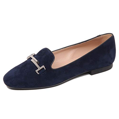 F6554 Ballerina Donna Dark Blue Tod'S Scarpe Double T Suede Shoe Woman [39.5]