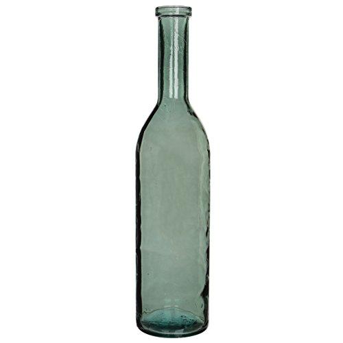 MICA Decorations Rioja Glasflasche/Vase, Glas, grau/grün, H. 100 cm D. 21 cm