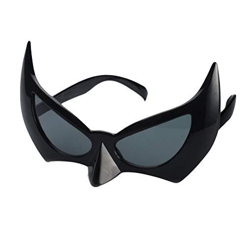 BESTOYARD Bat Eye Brille Batman Maske Sonnenbrille Batgirl Augenmaske Foto Propss Halloween Cosplay Kostüm Maskerade Masken Party Dekoration