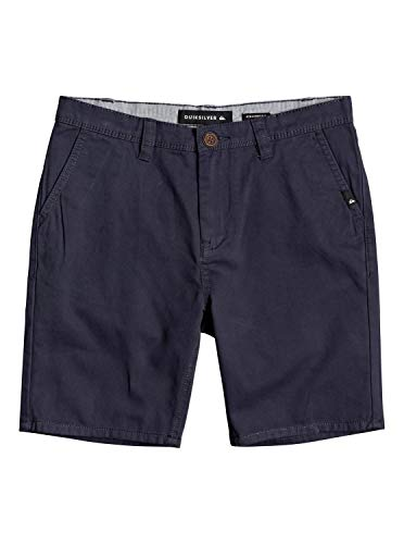 Quiksilver Jungen Walk Shorts Everyday - Chino-Shorts für Jungen 8-16, Blue Nights, 43825, EQBWS03225