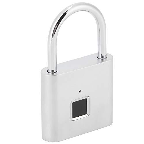 Serrure de Porte Intelligente, Serrure d'empreinte Digitale de Reconnaissance d'empreinte Digitale d'angle 360 ° d'acier Inoxydable d'alliage de Zinc avec Le câble USB pour Le Bureau de