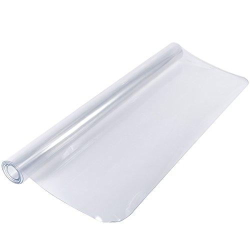 Anladia Alfombrilla de Silla PVC Protector para Suelo 1.5mm Protección de Suelos Duros Estera Alfombra de Silla para Suelo Casa Oficina (90x120cm)