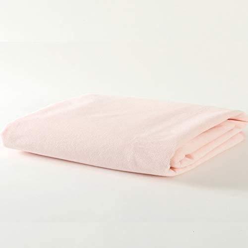 イクズス 綿100%防水シーツ 80×130cm エコシングルサイズ 1枚 (ピンク)