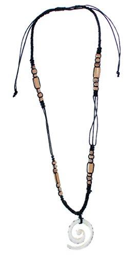 Budawi® - Halskette mit Kegelschnecke, Holz, Kette mit Anhänger, Männer-Kette