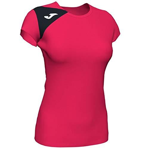 Joma Spike II Camisetas Señora, Mujer, Fucsia-Negro, XL