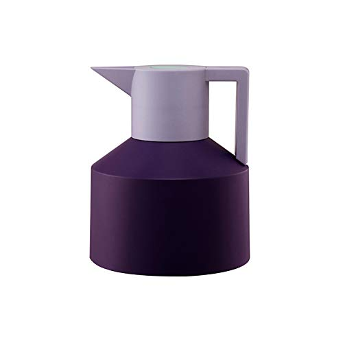 UNISOPH Stainless Steel Coffee Jug, 1.5L Double Walled Insulated Tea Carafe Thermal Flask with 12 Hours Heat and Cold Retention for Tea Coffee Ice Drinks (Purple)