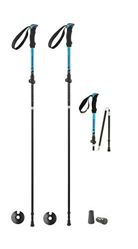 Ferrino Ortles, Bastoncini da Trekking Unisex Adulto, Azzurro, 115-135 cm - piegato 40 cm