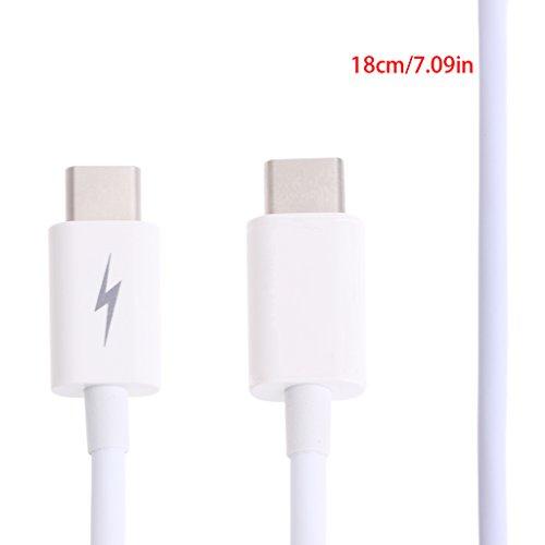 CAREMiLLE Qianqian56 USB 3.1 T-Ype C (USB-C) Cable Adaptador de Conector de Carga de sincronización de Datos Macho a Macho, Cable de Datos