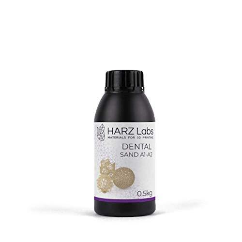 HarzLabs resina DENTAL SAND A1-A2-0,5 KG [para coronas, puentes provisionales]
