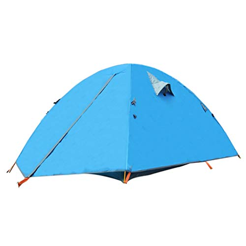 HUIYAN Camping Tents, Couple Tent | Auto Yurt Pop Double Rain | Suitable For Outdoor Camping Climbing, Three Colors (Color : Blue)