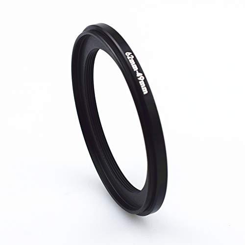 62mm-49mm Step-down-Ringe Filteradapter Ring - Metall Filter Adapterring von Kamera Objektiv mit 62mm Filtergewinde auf 49mm Filter-Ring Zubehör