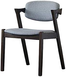 YUTRD ZCJUX Muebles de Madera Maciza Silla de Comedor Minimalista Moderna China Negro Volver Muebles de Estilo Nordic Ligh...