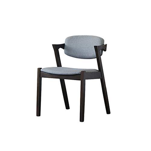 YUTRD ZCJUX Muebles de Madera Maciza Silla de Comedor Minimalista Moderna China Negro Volver Muebles de Estilo Nordic Light Silla de Escritorio (Color : B)