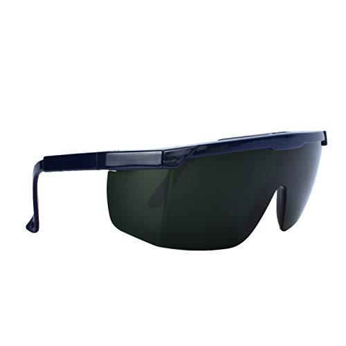 Mufly Schweißerbrille Schweißer Sicherheitsbrillen,klappbar,Anti-Flog,Anti-Shock,Blendschutz,Schutzgläser für Schweißer mit transparenter und schwarzer Brille(IR5.0) - 2