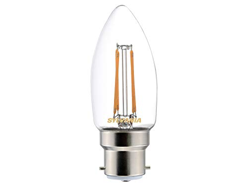 Sylvania Toledo 0027280 Rétro Bougie Lampe LED, verre, Home, clair B22, 4 Watts