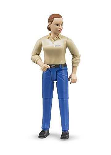 bruder 60408 Frau mit hellem Hauttyp und Hose, blau, bunt
