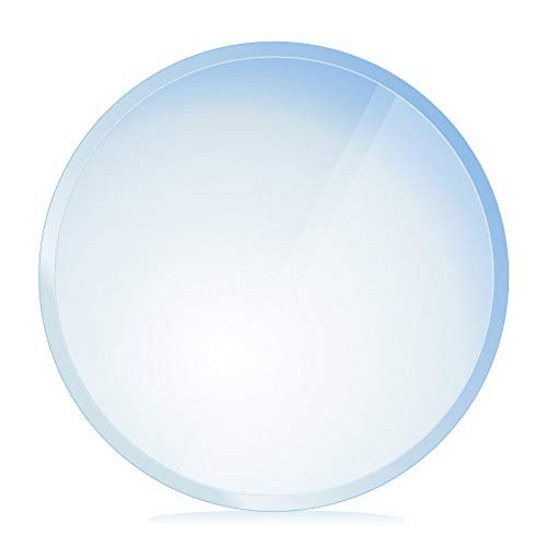 bijon® Funkenschutz-Platte mit Facettenschliff | Glasplatte Kaminofen | Kaminschutz mit ESG Sicherheitsglas | Kamin Zubehör | Kamin Glasplatte | Kreis 110 x 110 cm | 6mm