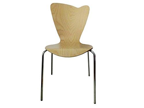 MAUSER SITZKULTUR Design Stuhl HEART in Holzdekor buche ohne Armlehne, stapelbar, M528