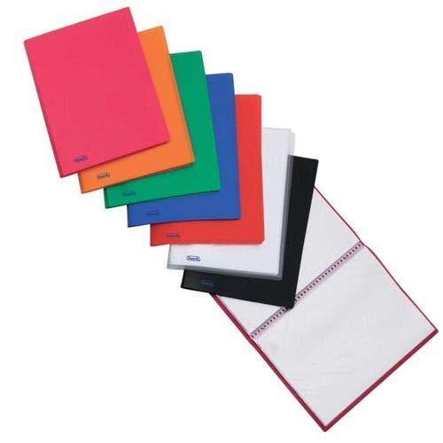 Portalistini favorit a fogli fissi con copertina flessibile personalizzabile multicolore 22x30 20 Buste Confezione da 4 Portalistini
