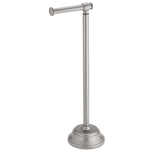 iDesign 93388EU Kent WC-Ersatzrollenhalter Plus, 17,25 x 14 x 59 cm, metallicsilber, Stahl