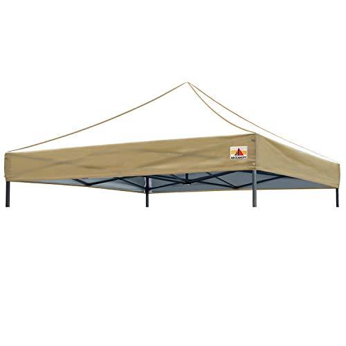ABCCANOPY Replacement Top Cover 100% Waterproof (18+ Colors) 10x10 Pop Up Canopy Tent Top, Edge Beige