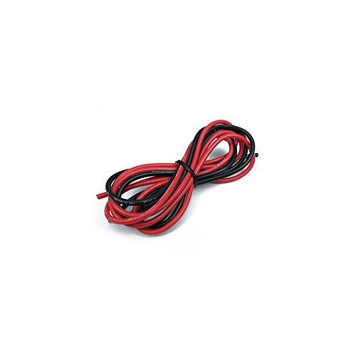 King Arms Silikonkabel für Getriebe 16 AWG 100cm Silikon-Kabel, schwarz, One Size