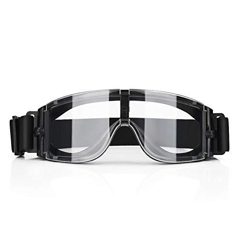 Zunate Reitbrille,Motorradbrillen Schutzbrille für Motocross,Ski,Jetski, Reiten und Radfahren usw,widersteht hohen Auswirkungen ,mit 3 Linsen (schwarz, transparent und gelb)