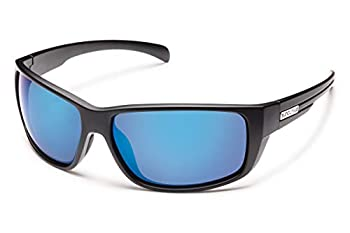 Suncloud Milestone Polarized Sunglasses Matte Black Frame/Blue Mirror One Size