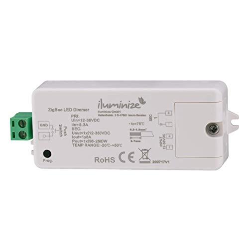 iluminize Zigbee 3.0 LED-Controller 1x 8A, 12V-36V, für weiße LEDs, Lightlink & Touchlink (1x 8A weiß)