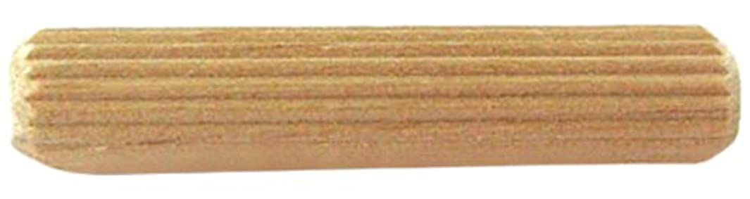 Bulk Hardware BH03641 M10 x 40mm (3/8 inch x 1.1/2 inch) Wooden Fluted Dowel Pins - Pack of 20